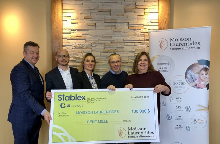 Stablex donates $100,000 to Moisson Laurentides