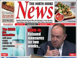 Front page of The North Shore News.